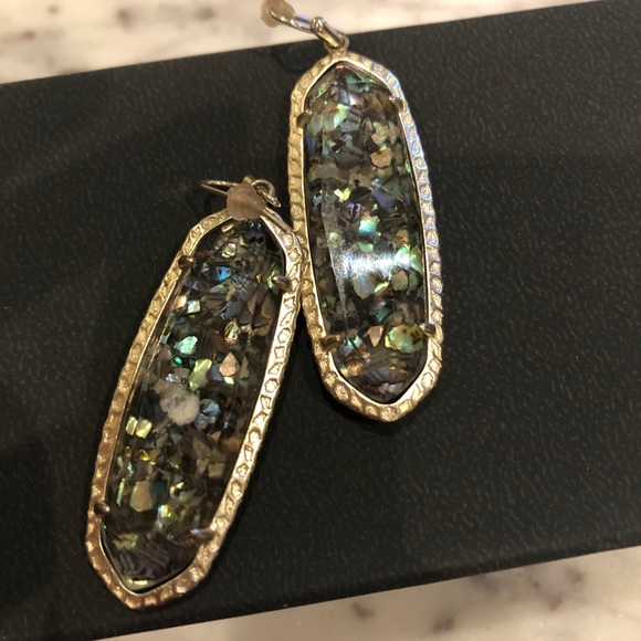 Kendra Scott Layla crushed abalone earrings